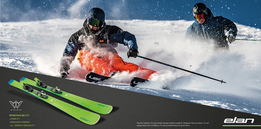 Elan Wingman skis, de beste all-maintain ski, nieuw model!